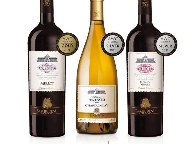 Trei vinuri din gama Chateau Valvis au fost medaliate la concursul AWC Vienna